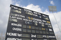 Cricket scoreboard Royalty Free Stock Photo