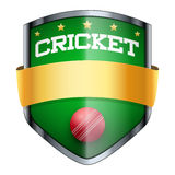 Cricket Shield badge Stock Images