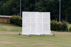 Cricket sight screen Royalty Free Stock Images