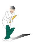 cricket spelare Stock Illustrationer