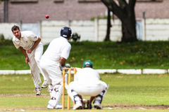 Cricket Spin Bowler Ball Batsman Stock Photography