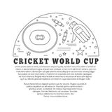 Cricket sport game graphic design concept Stock Images