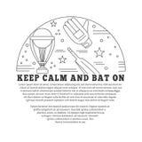 Cricket sport game graphic design concept Stock Photo
