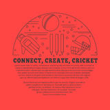 Cricket sport game graphic design concept Royalty Free Stock Photo