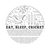 Cricket sport game graphic design concept Stock Image
