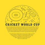 Cricket sport game graphic design concept Royalty Free Stock Photos