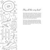 Cricket sport game graphic design concept Stock Photos
