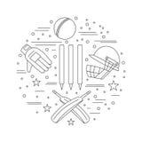 Cricket sport game graphic design concept Royalty Free Stock Photos