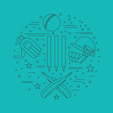 Cricket sport game graphic design concept Stock Photography