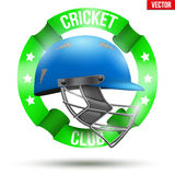 Cricket Sport Label Royalty Free Stock Photo