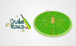Cricket sports concept with bat and ball shot. Stock Photos