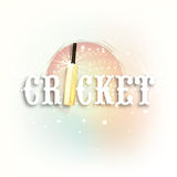 Cricket sports concept with bat and ball. Royalty Free Stock Photo