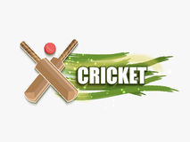 Cricket sports concept with bats and ball. Royalty Free Stock Photos