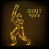 Cricket sports concept with batsman. Stock Photography