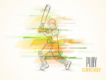 Cricket sports concept with batsman. Royalty Free Stock Image