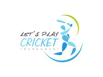 Cricket sports concept with batsman. Royalty Free Stock Photography