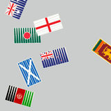 Cricket sports concept with flags. Royalty Free Stock Photo