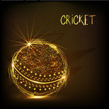 Cricket sports concept with golden ball. Stock Images