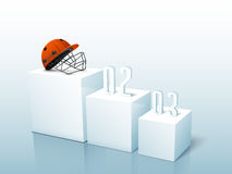 Cricket sports concept with helmet. Royalty Free Stock Photos