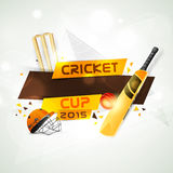 Cricket sports concept with match kit. Royalty Free Stock Photos