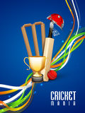 Cricket sports concept with match kit. Stock Images