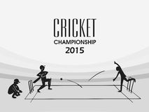 Cricket sports concept with players. Stock Photos