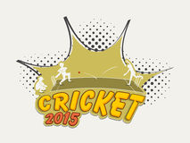 Cricket sports concept with players. Royalty Free Stock Photography