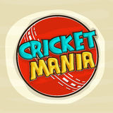 Cricket sports concept with red ball. Royalty Free Stock Images