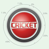 Cricket sports concept with statistics. Cricket sports concept with statistics on sky blue background Stock Image