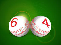 Cricket sports concept with white ball. Royalty Free Stock Photos