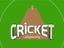 Cricket sports concept with wicket stumps and ball. Stock Photos
