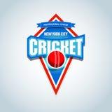 Cricket sports logo, label, emblem. Cricket badge logo template,sport t-shirt graphics. Vector illustration. vector illustration
