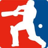 Cricket sports player batsman Royalty Free Stock Photo