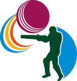 Cricket sports player batsman Stock Image