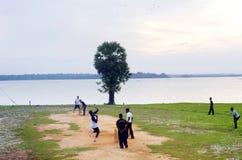 Cricket in Sri Lanka Royalty Free Stock Images