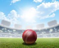Cricket Stadium And Ball Royalty Free Stock Photo