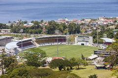 Cricket Stadium on Dominica Royalty Free Stock Photos
