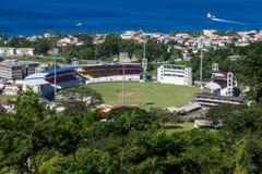 Cricket Stadium in Dominica Stock Photos
