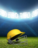 Cricket Stadium And Helmet Stock Photos
