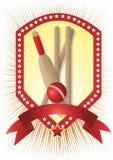 Cricket star white Stock Image