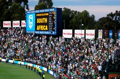 Cricket Supporters Royalty Free Stock Images