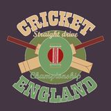 Cricket t-shirt graphic design. England stock illustration