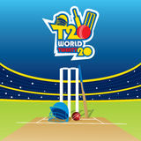 Cricket t20 world cup banner Royalty Free Stock Photography