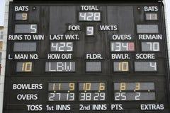 cricket tablica wyników obraz stock