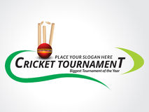 Cricket Tournament Banner Background Royalty Free Stock Photography