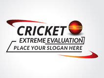 Cricket Tournament Text Background Stock Photos