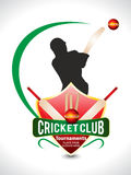 Cricket Tournament Text Background Wtih Ball. Vector illustration royalty free illustration