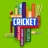 Cricket typography background Royalty Free Stock Photo