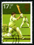 Cricket UK Postage Stamp Royalty Free Stock Photos