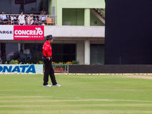 Cricket Umpire. Umpire Richard Kettleborough officiates during the cricket match in Ranchi on the 23rd of October Stock Images